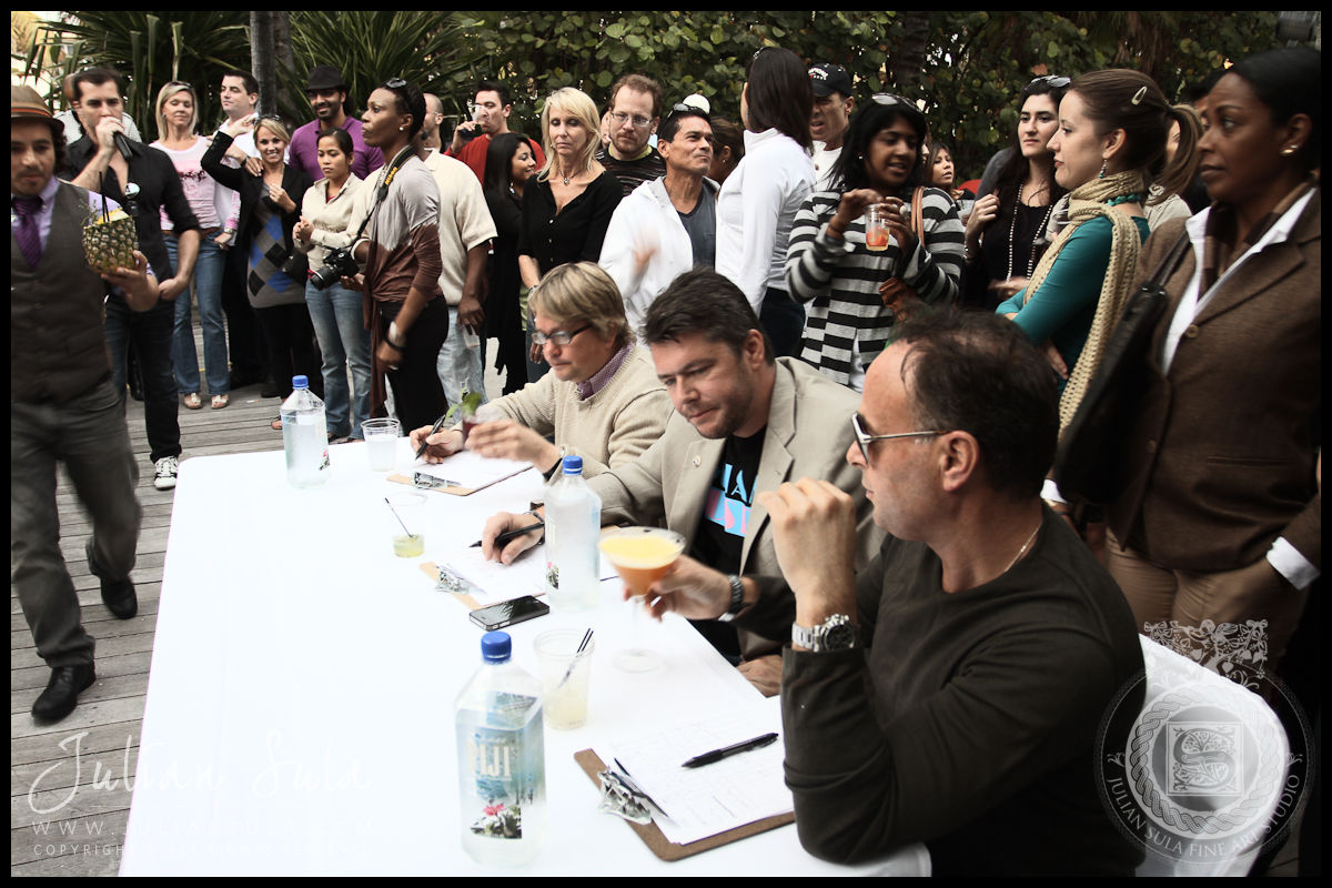 Judges-Ocean Drive Magazine Mixologist Masters 2010 Event at the Raleigh Hotel in Miami