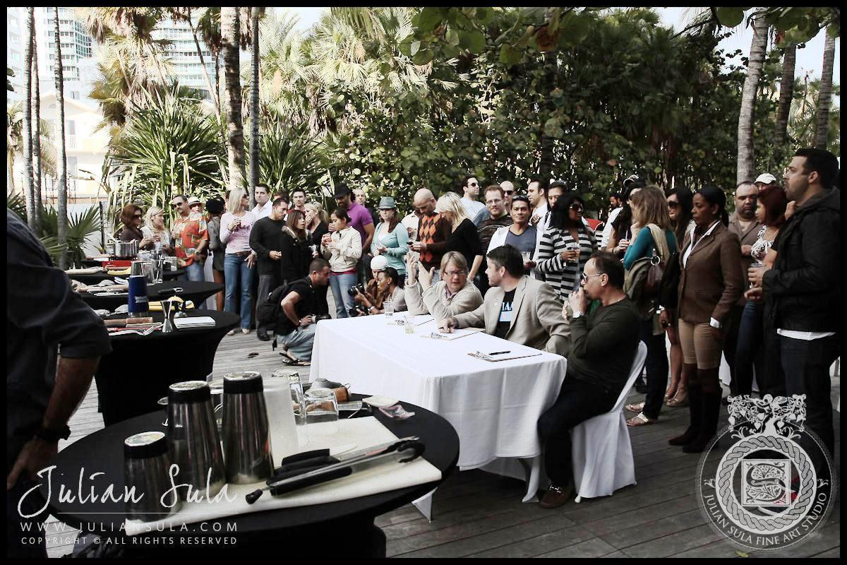 Judges/Crowd at the Ocean Drive Magazine Mixologist Masters 2010 Event at the Raleigh Hotel in Miami