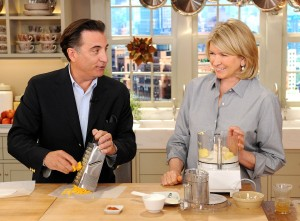 """Andy Garcia and Martha Stewart are seen during the production of """"The Martha Stewart Show"""" in New York on Wednesday, November 17, 2010. Photo: David M. Russell/The Martha Stewart Show"""