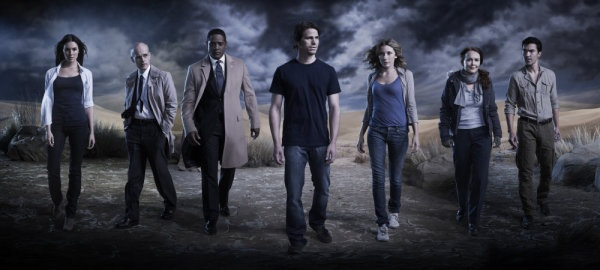 THE EVENT -- Season 1 -- Pictured: (l-r) Taylor Cole as Vicky Roberts, Zeljko Ivanek as Blake Sterling, Blair Underwood as Elias Martinez, Jason Ritter as Sean Walker, Sarah Roemer as Leila Buchanan, Laura Innes as Sophia McGuire, Ian Anthony Dale as Simon Lee -- Photo by: Patrick Ecclesine/NBC