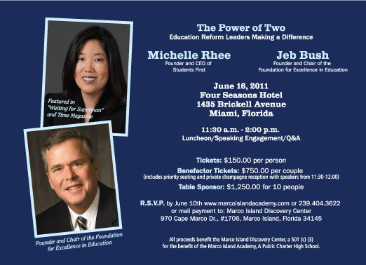 Marco Island Academy Fundraising Event With Jeb Bush