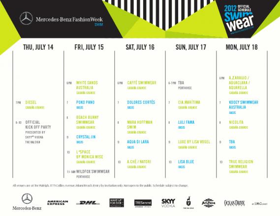 Mercedes-Benz Fashion Week Swim 2012