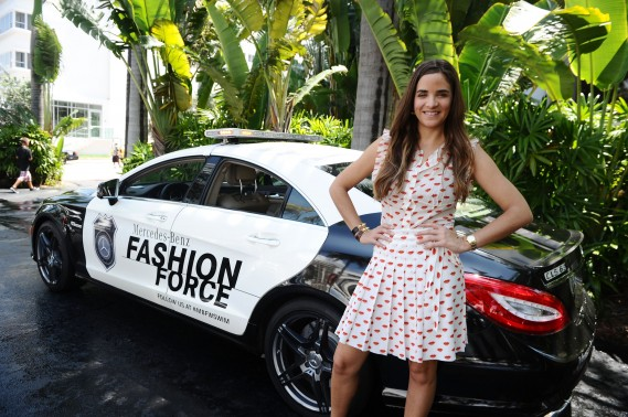Co-founder of The Webster Laure Heriard Dubreuil poses during Mercedes-Benz Fashion Week Swim at The Raleigh on July 14, 2011 in Miami Beach, Florida. (Photo by Michael Buckner/Getty Images for Mercedes-Benz)