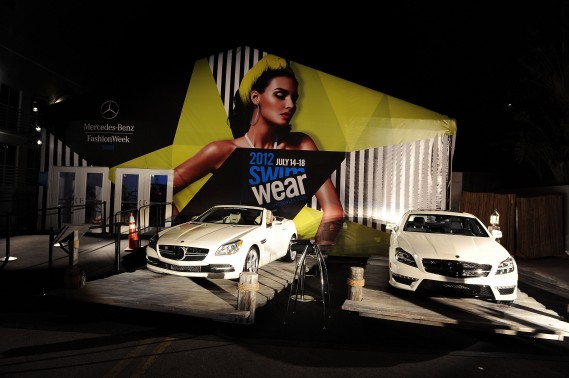 A general view of atmosphere during Mercedes-Benz Fashion Week Swim at The Raleigh on July 15, 2011 in Miami Beach, Florida. (Photo by Michael Buckner/Getty Images for Mercedes-Benz)