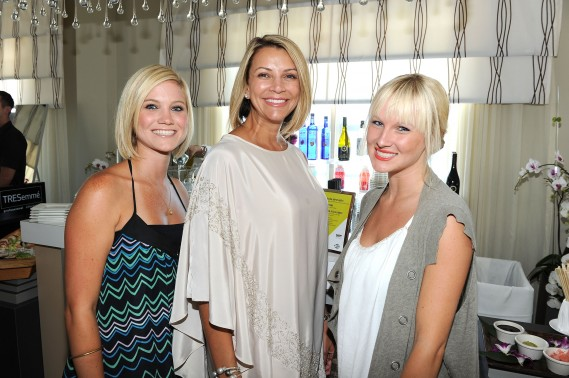 (L-R) Melissa Gibson, Designer Lisa Vogel and Holly Harshman attend Mercedes-Benz Fashion Week Swim at The Raleigh on July 15, 2011 in Miami Beach, Florida. (Photo by Michael Buckner/Getty Images for Mercedes-Benz)