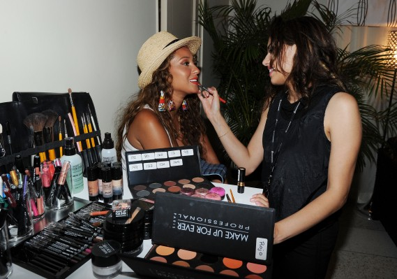 Adrienne Bailon attends Mercedes-Benz Fashion Week Swim at The Raleigh on July 15, 2011 in Miami Beach, Florida. (Photo by Michael Buckner/Getty Images for Mercedes-Benz)