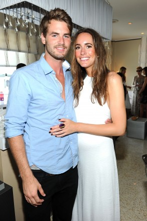Louise Roe and guest attend Mercedes-Benz Fashion Week Swim at The Raleigh on July 16, 2011 in Miami Beach, Florida. (Photo by Michael Buckner/Getty Images for Mercedes-Benz)