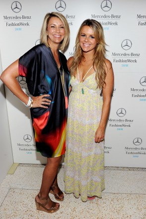 Designer Lisa Vogel (L) and TV personality Ali Fedotowski attend Mercedes-Benz Fashion Week Swim at The Raleigh on July 17, 2011 in Miami Beach, Florida.  (Photo by Michael Buckner/Getty Images for Mercedes-Benz Fashion Week Swim)