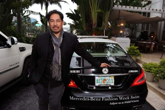 Danny Santiago poses during Mercedes-Benz Fashion Week Swim at The Raleigh on July 17, 2011 in Miami Beach, Florida. (Photo by Michael Buckner/Getty Images for Mercedes-Benz Fashion Week Swim)