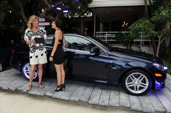 Guests attend Mercedes-Benz Fashion Week Swim at The Raleigh on July 18, 2011 in Miami Beach, Florida.
