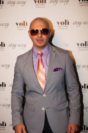Pitbull, Mr. Worldwide, arrives at the Sky Hotel for an exclusive performance hosted by Voli Light Vodkas and importer Palm Bay International during 29th Annual Food and Wine Classic in Aspen