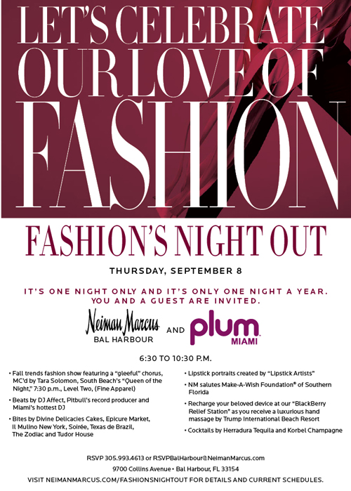 Fashion's Night Out at Neiman Marcus Bal Harbour