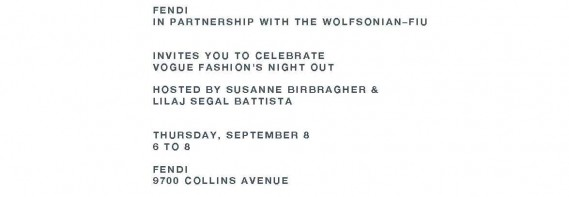 Fendi and The Wolfsonian-FIU for Vogue Fashion's Night Out