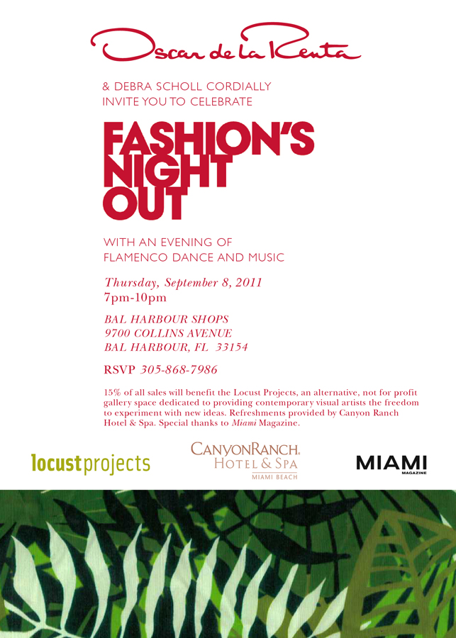 Oscar de la Renta supports Locust Projects at Fashion's Night Out