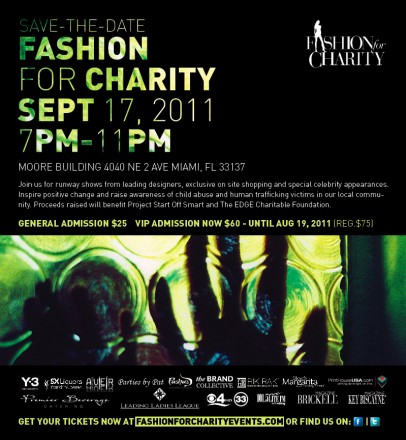 Fashion for Charity Hosts Runway Fundraiser to Benefit Project Start Off Smart (SOS) and The EDGE Charitable Foundation to Fight Human Trafficking