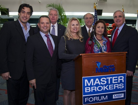 Andres Asion, Jeff Morr, Bill Johnson, Helen Jeanne Nicastri, Emilio Palomo, Donna Bloom, and Mayor Carlos Gimenez