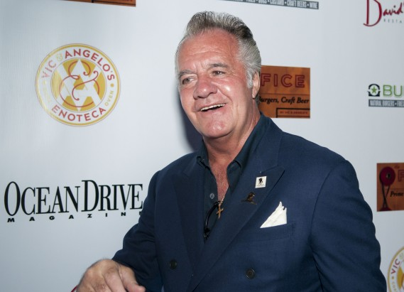 Sopranos Tony Sirico and others at the opening of Vic & Angelo's South Beach restaurant November 4th, 2011 in Miami Beach.