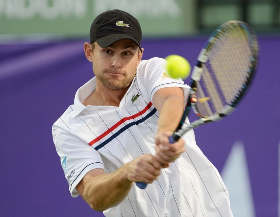 Andy Roddick Participates in The Miami Cup tennis tournament held at Crandon Park Tennis Center on December 1, 2012 in Key Biscayne, Florida.