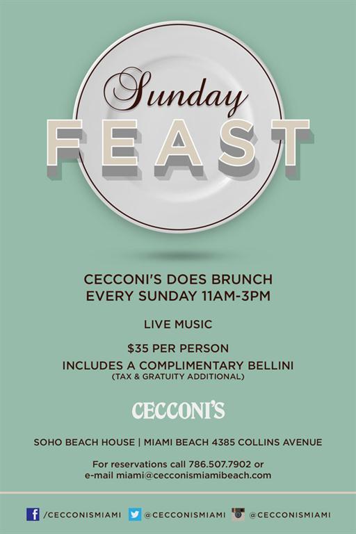 Cecconi's hosts al fresco Sunday Feast