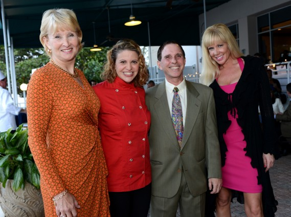 Gale Butler of AutoNation; Chef Michelle Bernstein, Dennis Haas of ARC Broward; and Jen Klaassens of The Wasie Foundation