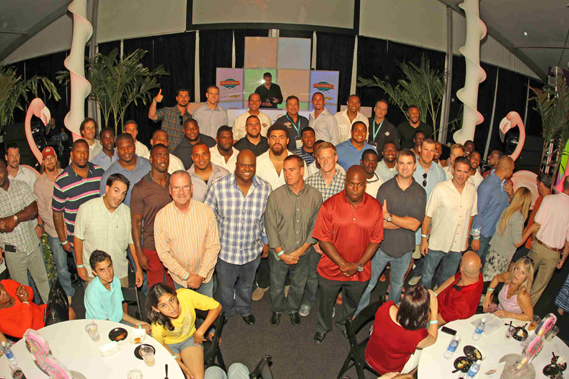 Fins Weekend - Miami Dolphins coaches and players at Hook and Tackle Captain's Party