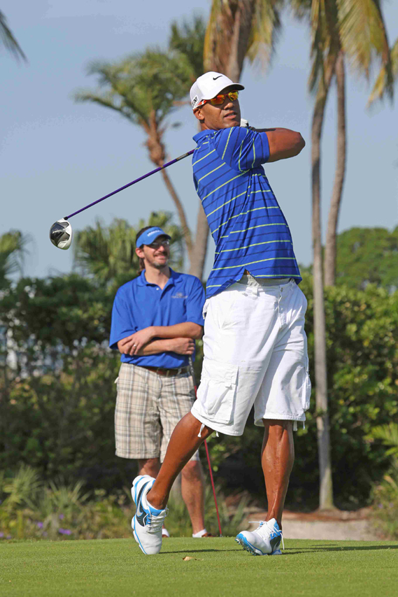 jason Taylor at Fins Weekend Golf Tournament at Turnberry Isle