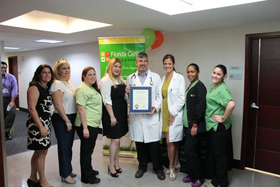 Dr. Frank J. Martell and his staff