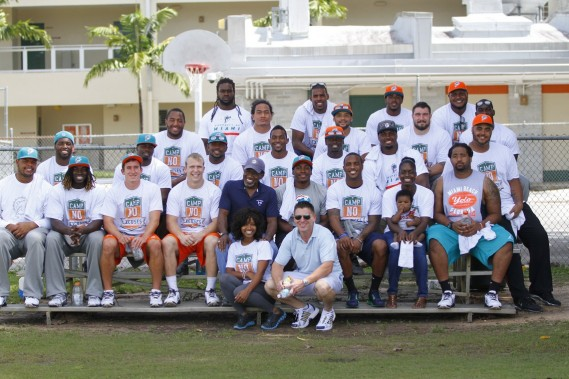 Miami Dolphins and Mercury Morris at football clinic at