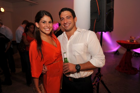 Margarita Fernandez & Chris Gonzalez at MIAMI Magazine Annual To Live & Dine Event at The Moore Building in The Design District