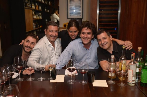 Jordi Roca,Joan Roca,Vanessa Fernandez-Valdes,Pablo Fernandez-Valdes and Josep Roca  attends the KLIMA Restuarant And Bar Hosts A Private Dinner For The Three Roca Brothers And Renowned Culinary Icons, Joan Roca, Josep Roca, And Jordi Roca at KLIMA Restaurant & Bar on August 11, 2015 in Miami Beach, Florida.  (Photo by Gustavo Caballero/Getty Images for KLIMA Restuarant & Bar)