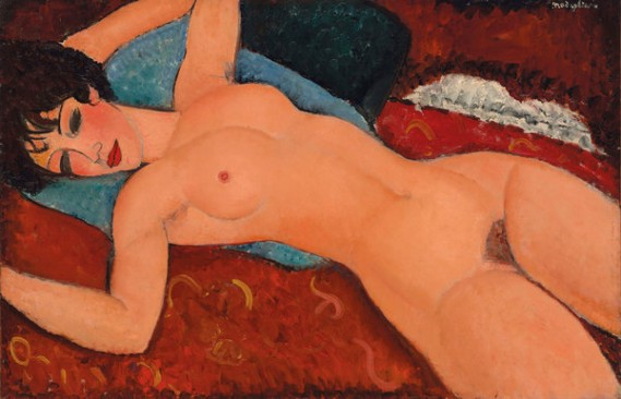 "Amedeo Modigliani's ""Nu Couché"" (1917-18). Credit via Christie's"