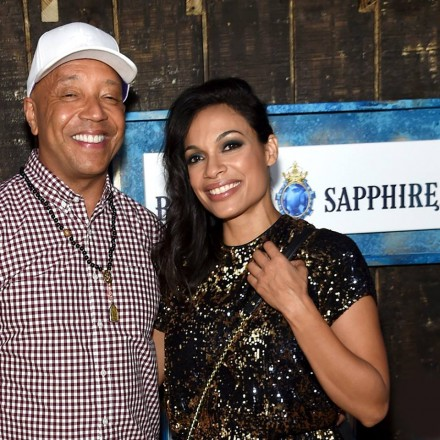 Rosario Dawson and Russell Simmons