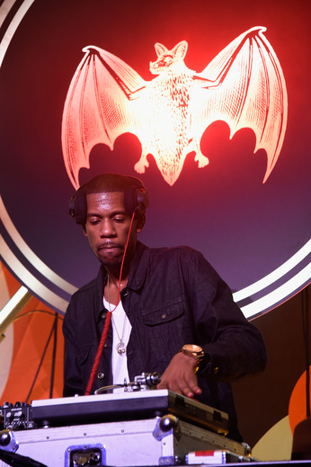 Young Guru spins at The Dean Collection X BACARDI Untameable House Party on December 3, 2015 in Miami, Florida.