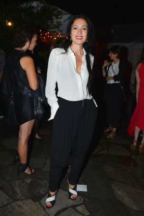 Catherine Malandrino at  Absolut Elyx and Water For People Art Basel benefit at Delano South Beach