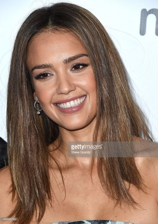 Jessica Alba wore Harry Kotlar diamond stud earrings, diamond hoop earrings, a diamond ring and two diamond bracelets to the 2015 March Of Dimes Celebration Of Babies at the Beverly Wilshire Four Seasons Hotel on December 4, 2015 in Beverly Hills, California