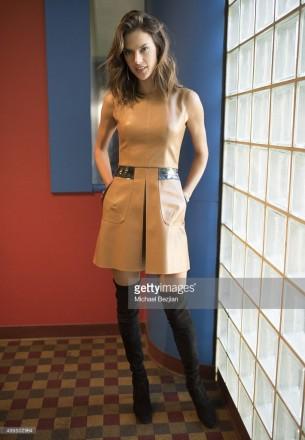 Alessandra Ambrosio wore Cristiano Burani and Djula to The Lowdown with Diana Madison