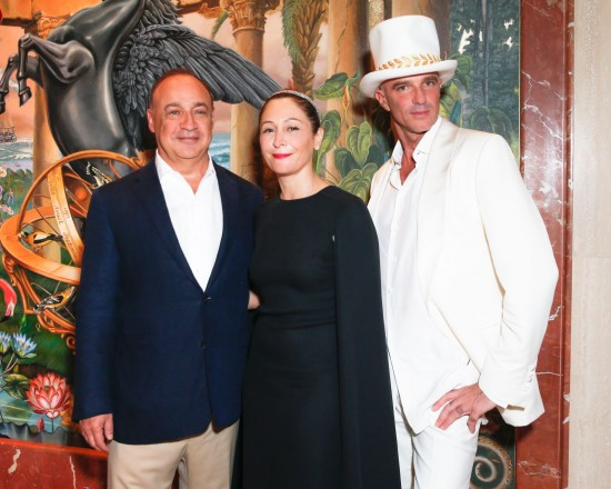 Len Blavatnik, Ximena Caminos, and Alan Faena at the Faena Hotel Miami Beach opening celebration.