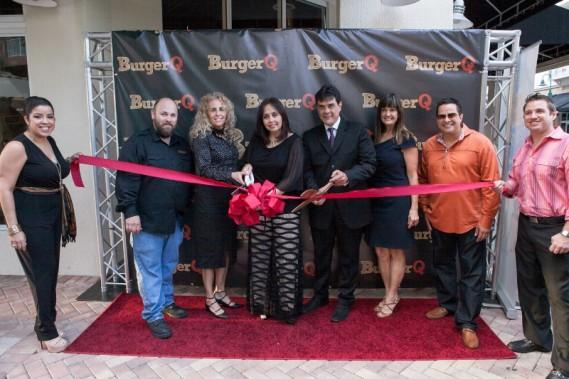 BurgerQ owners Gabriel and Maria Arguello during ribbon cutting. (BurgerQ)