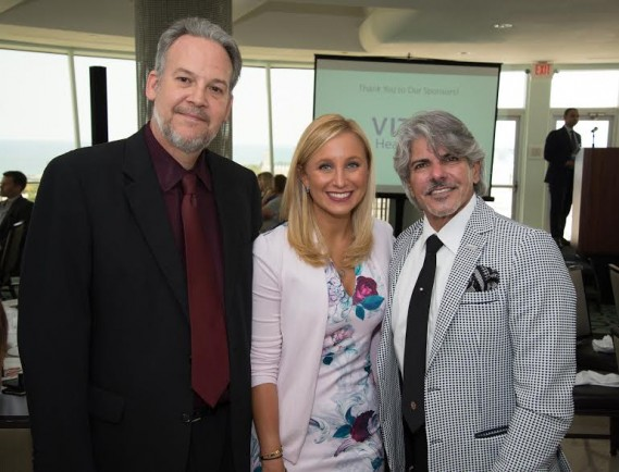 Joe Rogers, ChildNet Board Member; Lauren Book, Founder and CEO of Lauren's Kids; and Emilio Benitez, President/CEO of ChildNet