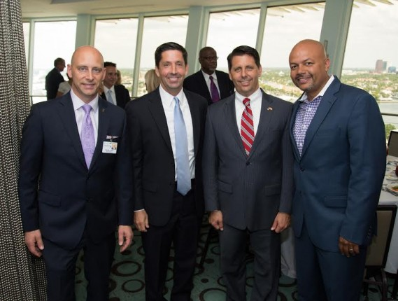 Michael LaMarca, Dan McCawley, Shareholder at Greenberg Traurig; State Representative George Moraitis, and Todd Billings, CEO & President of USDV