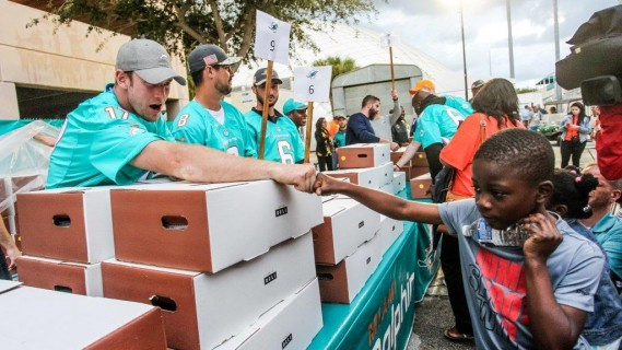 Ryan Tannehill at Thanksgiving Meal Distribution presented by Hyundai