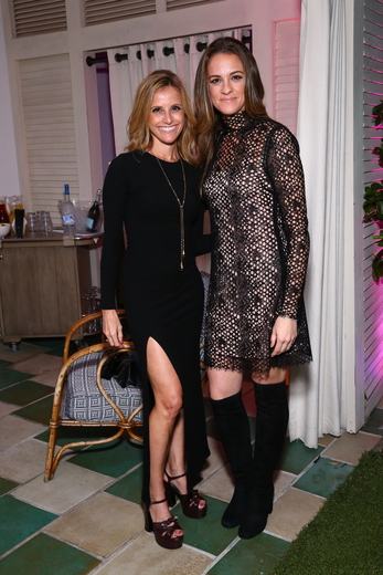 Virginia Carnesale and Kirsten Sosa attenda the DuJour Media, Gilt & JetSmarter party to kick off Art Basel at The Confidante on November 30, 2016 in Miami Beach, Florida. (Photo by Astrid Stawiarz/Getty Images for DuJour)