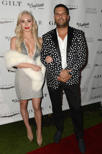 Gideon Kimbrell and Leighha Love attend the DuJour Media, Gilt & JetSmarter party to kick off Art Basel at The Confidante on November 30, 2016 in Miami Beach, Florida. (Photo by Gustavo Caballero/Getty Images for DuJour)