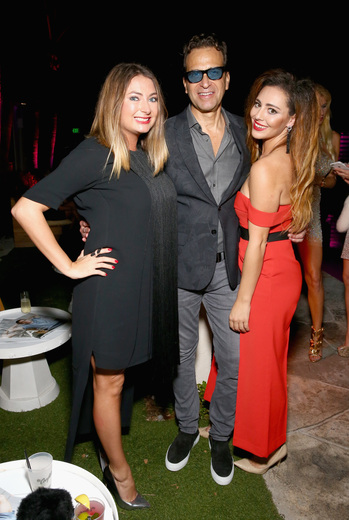 Monica Hacker, Richard Firshein and Juliana Evangelisa attend the DuJour Media, Gilt & JetSmarter party to kick off Art Basel at The Confidante on November 30, 2016 in Miami Beach, Florida. (Photo by Astrid Stawiarz/Getty Images for DuJour)
