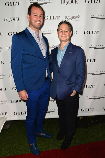 Emre Erkul and Founder of DuJour Jason Binn attends the DuJour Media, Gilt & JetSmarter party to kick off Art Basel at The Confidante on November 30, 2016 in Miami Beach, Florida. (Photo by Gustavo Caballero/Getty Images for DuJour)