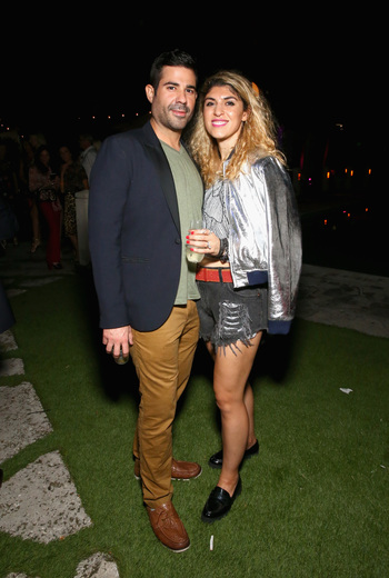 DKC senior vice president Damian Irizarry and beauty blogger Lara Eurdolian attend the DuJour Media, Gilt & JetSmarter party to kick off Art Basel at The Confidante on November 30, 2016 in Miami Beach, Florida. (Photo by Astrid Stawiarz/Getty Images for DuJour)