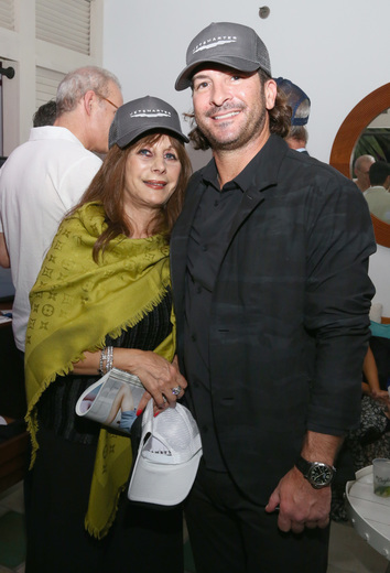 Dana Werner (L) and guest attend the DuJour Media, Gilt & JetSmarter party to kick off Art Basel at The Confidante on November 30, 2016 in Miami Beach, Florida. (Photo by Astrid Stawiarz/Getty Images for DuJour)