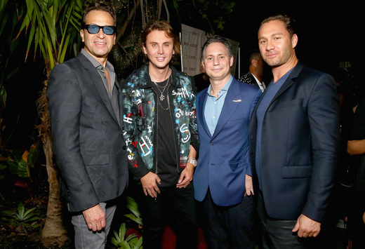 Dr. Richard Firshein, TheDishh.com founder Jonathan Cheban, DuJour founder Jason Binn and guest attend the DuJour Media, Gilt & JetSmarter party to kick off Art Basel at The Confidante on November 30, 2016 in Miami Beach, Florida. (Photo by Astrid Stawiarz/Getty Images for DuJour)