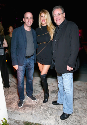 President of Gilt Jonathan Greller, Jennifer Dale and Marc Bell attend the DuJour Media, Gilt & JetSmarter party to kick off Art Basel at The Confidante on November 30, 2016 in Miami Beach, Florida. (Photo by Astrid Stawiarz/Getty Images for DuJour)