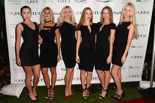 JetSmarter models attend the DuJour Media, Gilt & JetSmarter party to kick off Art Basel at The Confidante on November 30, 2016 in Miami Beach, Florida. (Photo by Gustavo Caballero/Getty Images for DuJour)